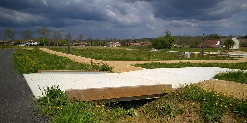 Passerelle beton